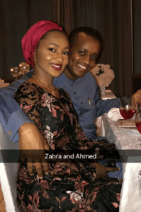 Zahra Buhari Indimi and her hubby,Ahmed attend his sister's 40th birthday party