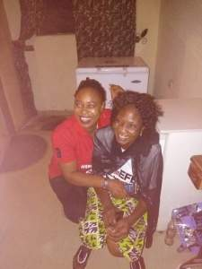 BBNaija- Photos of Efe's parents watching the Big Brother Naija Finale