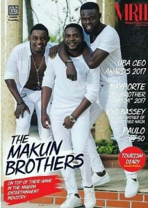 The Makun brothers cover Media Room Hub magazine