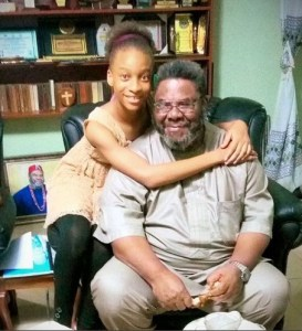 Yul Edochie shares pictures of his father,Pete Edochie, mother and daughter during Easter celebrations