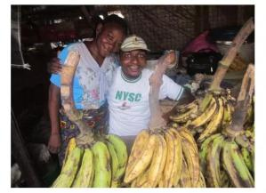 Corps Member shares photo of his mother who sold plantains to train him