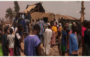 How man was caught with human parts in Ilorin, his house destroyed (Photos)