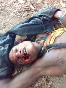 Graphic photo-  Notorious gang leader killed in Ondo state