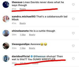 """""""Shut  up, you Sumo wrestler"""" Davido lashes out a overweight fan who called him unreliable"""