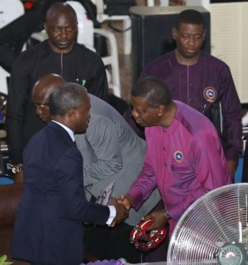 Photos of General Overseer,Pastor Adeboye and vice president Osibanjo