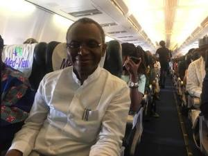 Governor El-Rufai spotted on economy class from Abuja to Lagos