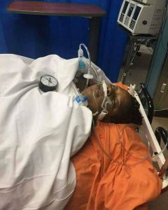 , Picture of Moji Olaiya while she was in the hospital bed, Effiezy - Top Nigerian News & Entertainment Website