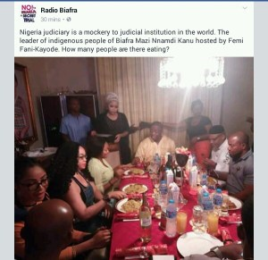 East meets West- Nnamdi Kanu dines with FFK at his Abuja home