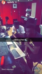 """Bally and Patoranking """"cook"""" up hits in the studio"""