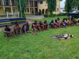 3 FUTO students caught during armed robbery operation in Imo State (Photos)