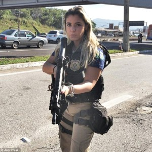World's Sexiest Cop? Brazilian Policewoman 'Arrests Millions of Hearts' with Her Bikini-clad Photos