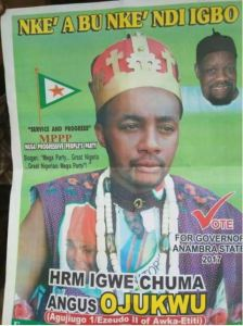See the controversial campaign poster of an Anambra Guber aspirant that got people talking