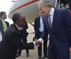 Former UK Prime Minister, Tony Blair lands in Kaduna