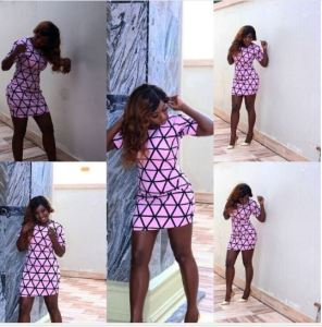 Nollywood actress, Yvonne Jegede stuns in short gown (Photo)