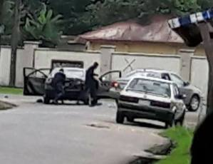 Armed robbers attack government car carrying huge amount of money in Akwa Ibom (Photos)