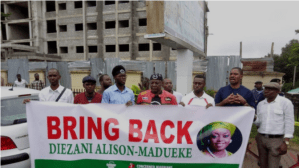 Charlyboy, others storm EFCC headquarters, demand repatriation of Diezani [PHOTO]