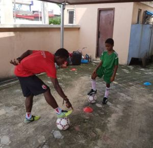 Timi Dakolo employs personal football trainer for his son after Neymar's N90Billion deal (Photo)