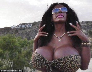 Ex-air hostess with the Biggest boobs in europe reveals how she turned from white to black (Photos)