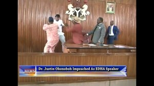 , Edo lawmakers fight, throw chairs at themselves in the house of assembly, Effiezy - Top Nigerian News & Entertainment Website
