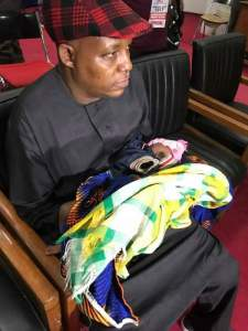 Governor Shettima carries baby for delegate at Anambra APC primaries (Pics)