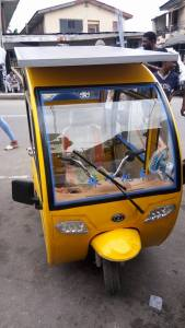 See the solar-powered Tricycle reportedly built by Nigerian man in Lagos (Photos)