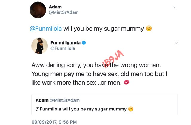 """, """"I Get Paid To Have Sex,"""" Funmi Iyanda Tells Man Hunting For A Sugar Mummy, Effiezy - Top Nigerian News & Entertainment Website"""