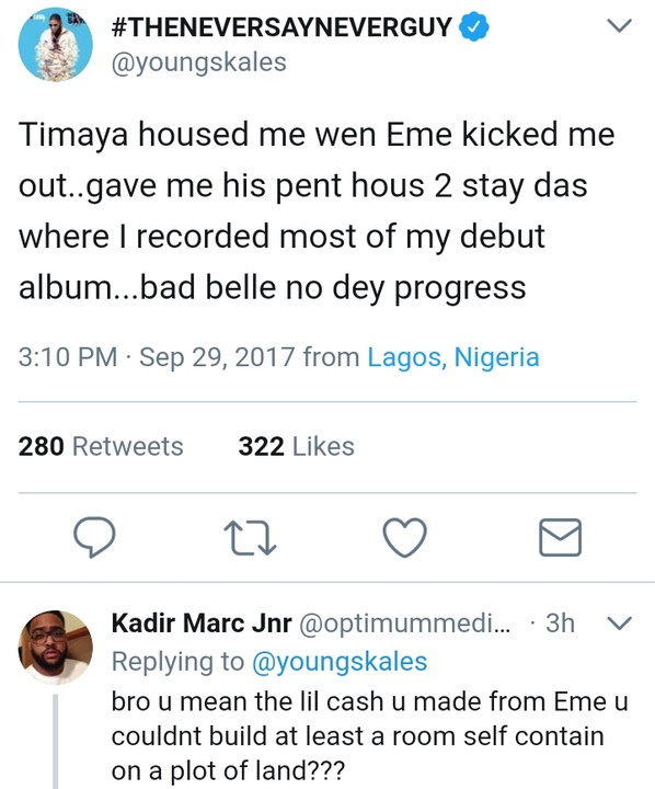 """, Skales: """"Timaya Housed Me When Banky W Kicked Me Out Of EME"""", Effiezy - Top Nigerian News & Entertainment Website"""