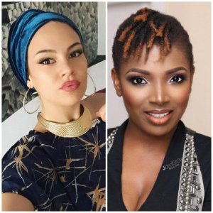 Actor IK Ogbonna's wife blasts Annie Idibia for posting video of lady dancing half unclad in a club on social media