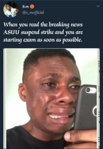 ASUU Strike call-off: See funny pictures
