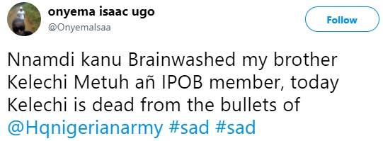 , Nnamdi Kanu brainwashed my brother, today he is dead – Man cries out, vows IPOB leader must pay, Effiezy - Top Nigerian News & Entertainment Website