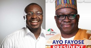 Ali Baba reacts to Fayose's presidential campaign poster