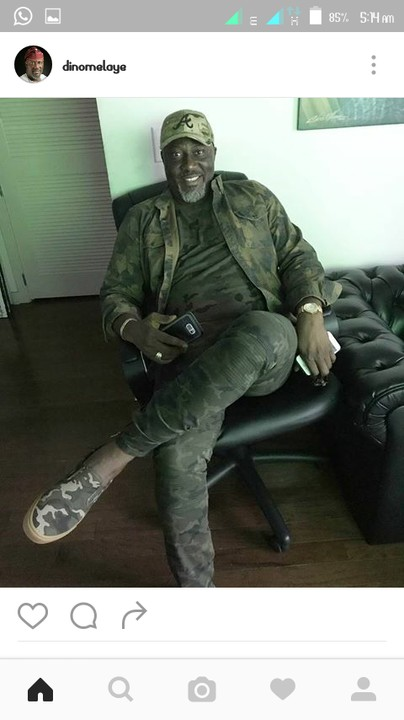 , Senator Dino Melaye's camouflage outfit got people talking, Effiezy - Top Nigerian News & Entertainment Website