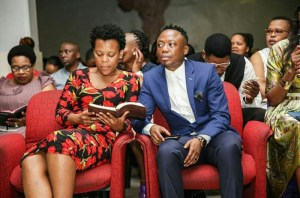 South African socialite known for not wearing pants preaches in church