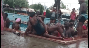 """Couple spotted having sex in a pool in the name of dancing """"One Corner"""" (Watch Video)"""