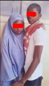 See What This Boy Did To Show That He Loves His JSS Girlfriend (Graphic Photos)