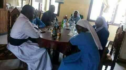 , Reverend Father And Sisters Drinking Beer (Photos), Effiezy - Top Nigerian News & Entertainment Website