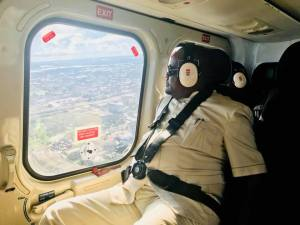 Governor Wike views Port-Harcourt City from a helicopter (Photos)