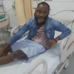 After surgery photos of Man who blasted Enugu governor for not helping him
