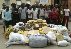 50 people arrested with 48 bags of drugs in Lagos(photos)