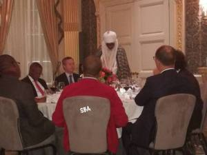 Emir of Kano and Aliko Dangote spotted at an event in London