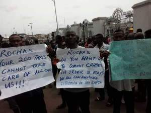 Keke Operators Protest In Owerri As Okorocha Plans To Replace Them With Taxis