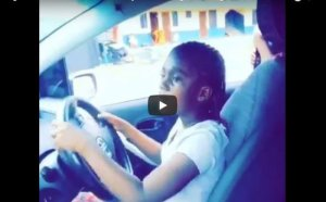 This man's video of his 6 year old daughter driving a car is causing controversy online (Watch Video)