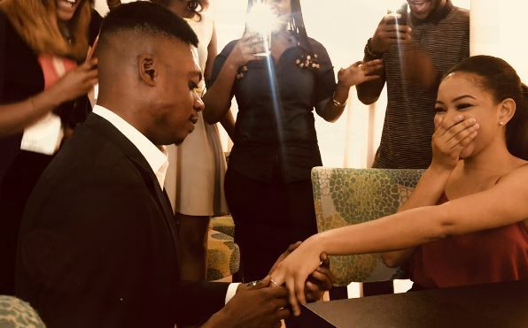 , Comedian Ebiye, proposes to girlfriend, Agnes Ejeme, vixen in Orente video (photos/video), Effiezy - Top Nigerian News & Entertainment Website