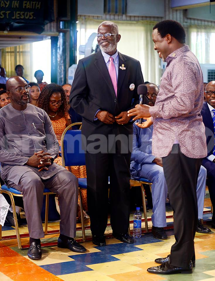 , Liberia presidential candidate, George Weah visits T.B. Joshua in Lagos [PHOTOS], Effiezy - Top Nigerian News & Entertainment Website