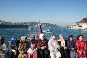 , Aisha Buhari on a Yacht in Turkey with wives of other leaders (Photos), Effiezy - Top Nigerian News & Entertainment Website