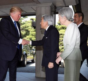 Trump met with Japanese Emperor and Trump didn't bow
