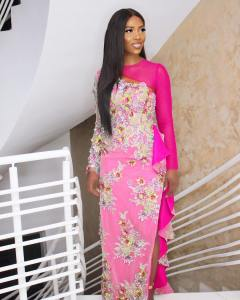 Check out Tiwa Savage's look to Banky W's wedding yesterday