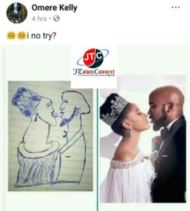 See Sketch Drawing Of Banky W And Adesua Etomi Kissing  (Photo)