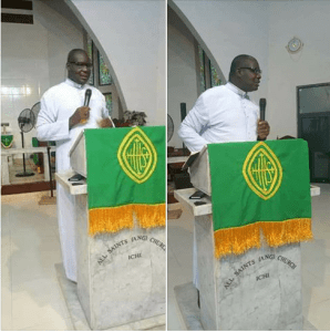 Priest Slumps, While Preaching At A Wedding In Anambra State (Photos)