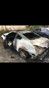 Angry Lady Sets Her Boyfriend's Car on Fire He Dumped Her (Photos)